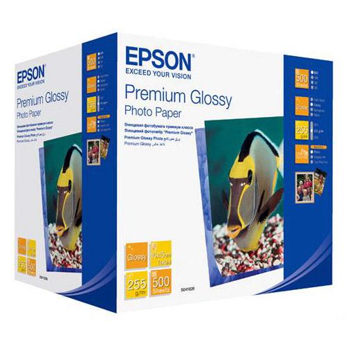 Фотопапір EPSON Premium Glossy A6 255г/м² 500л (C13S041826)