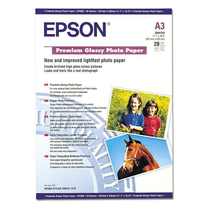 Фотопапір EPSON Premium Glossy A3 255г/м² 20л (C13S041315)