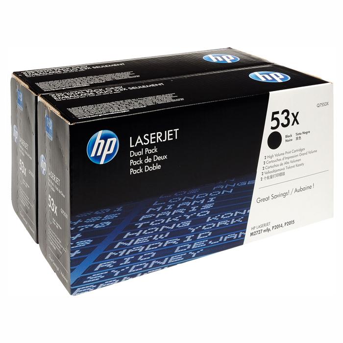 Тонер-картридж HP 53X Dual Pack Black (Q7553XD)