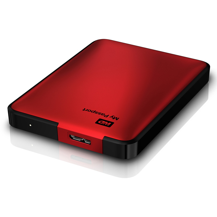 """Внешний портативный винчестер 2.5"""" WD My Passport 2TB USB3.0 Red (WDBY8L0020BRD-EESN)"""
