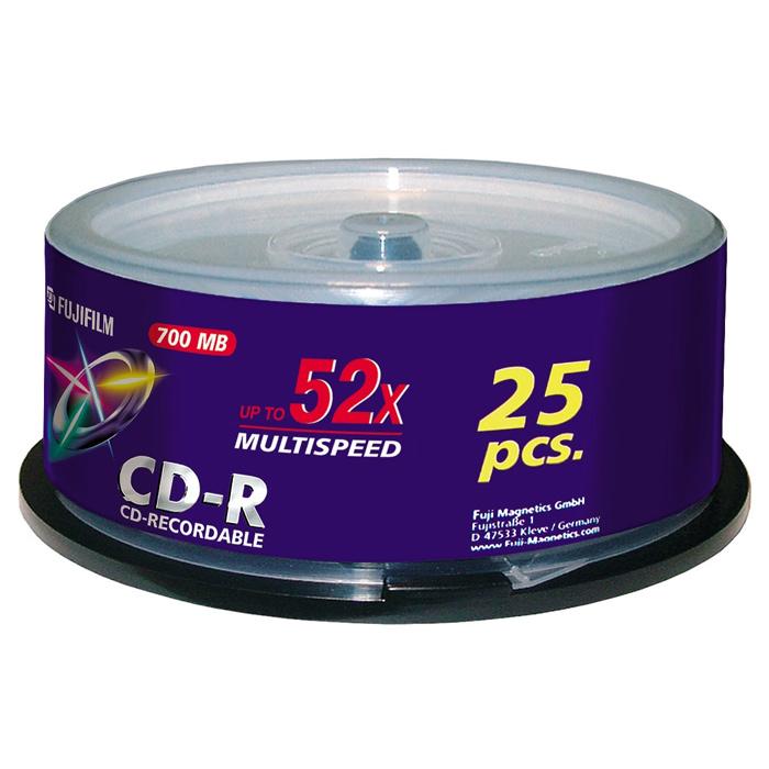 CD-R FUJIFILM Multispeed 700MB 52x 25pcs/spindle (DCRCA14A)