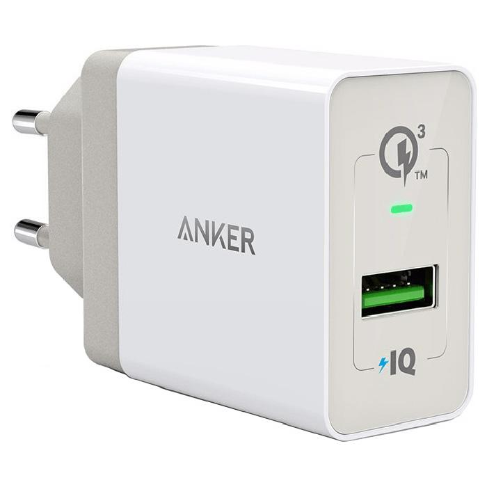 Зарядное устройство ANKER PowerPort+ 1 QC3.0 Micro-USB V3 (B2013L21)