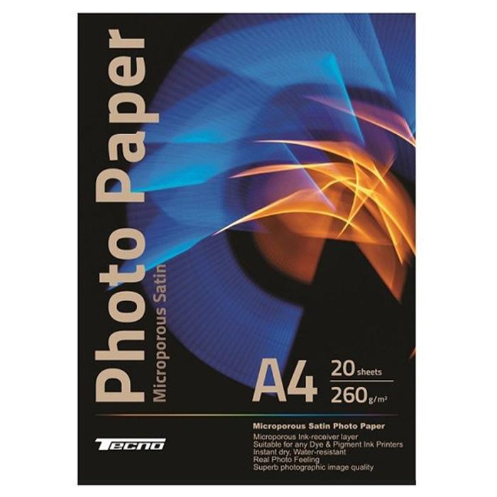 Фотопапір TECNO Premium Microporous Satin A4 260г/м² 20л (A4-P260MS-20)