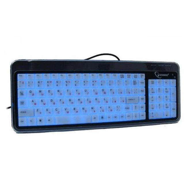 Клавiатура GEMBIRD KB-9845L-R USB Black