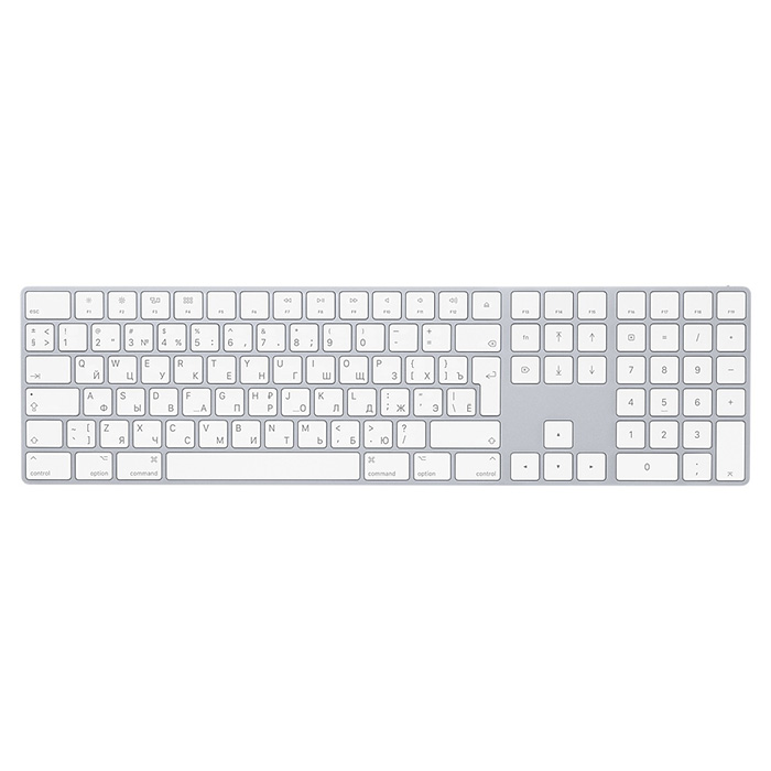 Клавіатура бездротова APPLE A1843 Magic Keyboard Silver (MQ052RS/A)