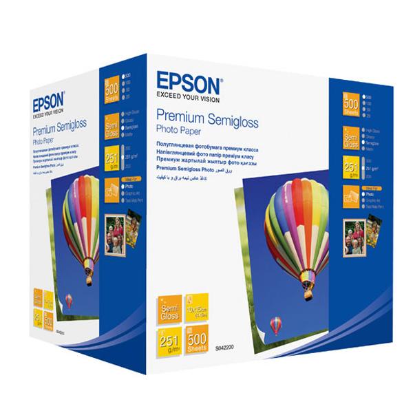 Фотопапір EPSON Premium Semiglossy 10x15см 251г/м² 500л (C13S042200)
