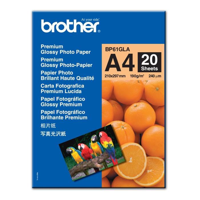 Папiр BROTHER A4 Innobella Premium Glossy Photo Paper, 20 л