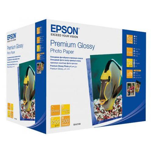 Фотопапір EPSON Premium Glossy 13x18см 255г/м² 500л (C13S042199)
