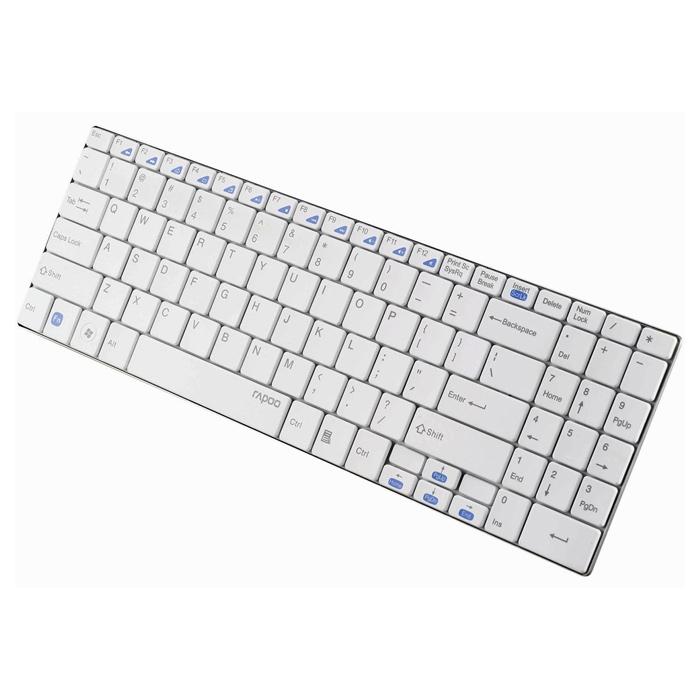 Клавіатура бездротова RAPOO E9070 White