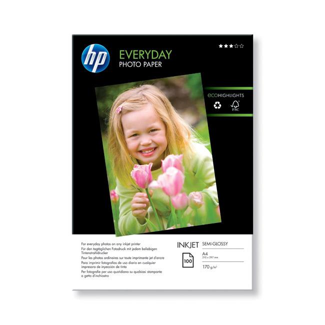 Фотопапір HP Everyday Semi-Glossy A4 200г/м² 100л (Q2510A)