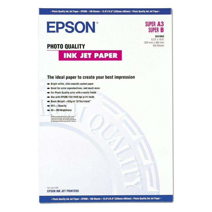 Фотопапір EPSON Photo Quality A3+ 105г/м² 100л (C13S041069)
