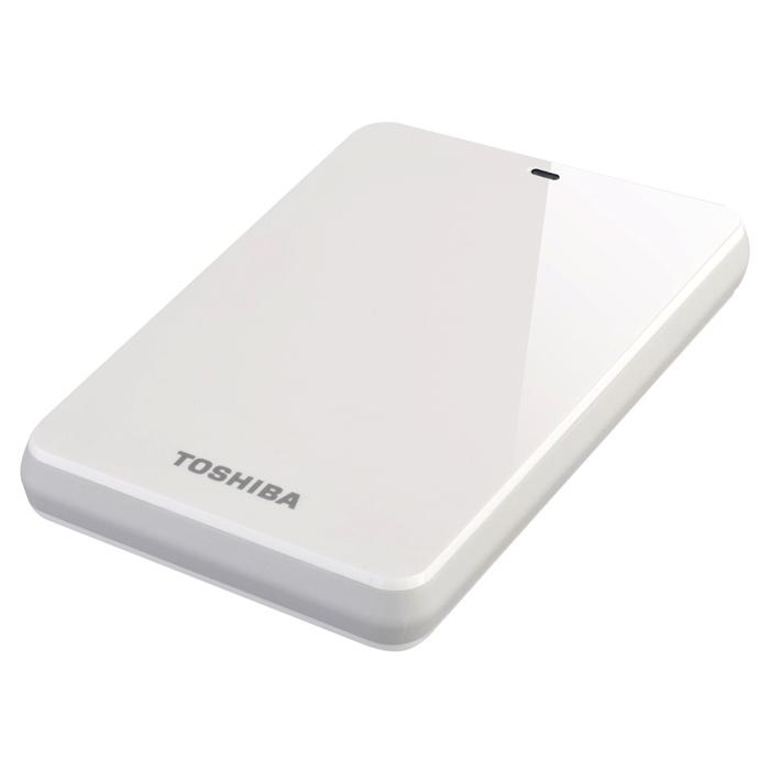 Внешний портативный винчестер TOSHIBA Canvio 1TB (USB3.0) White (HDTC610EW3B1)