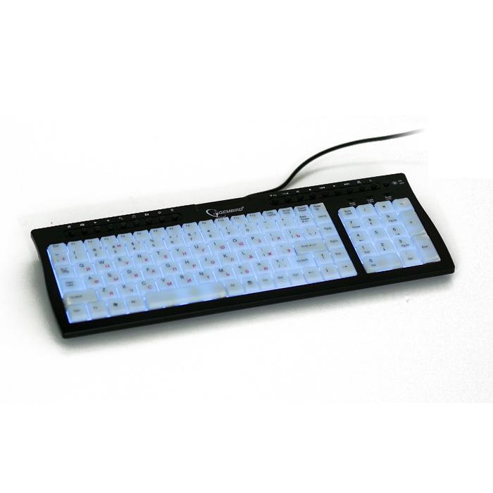 Клавiатура GEMBIRD KB-9805 USB+PS/2 Black/White