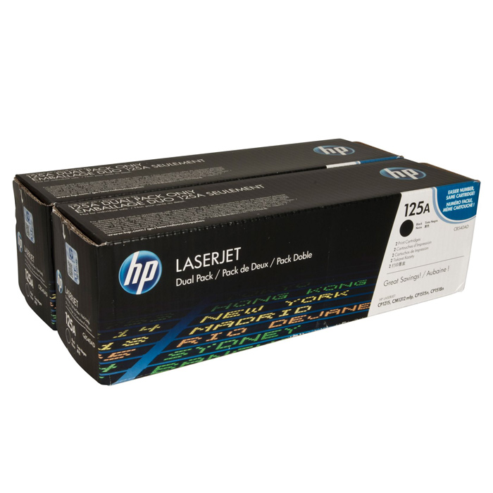 Тонер-картридж HP 125A Dual Pack Black (CB540AD)