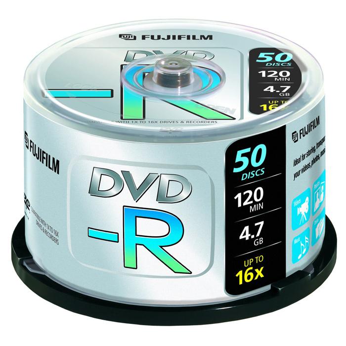 DVD-R FUJIFILM 4.7GB 16x 50pcs/spindle (P10DVMGY11A)