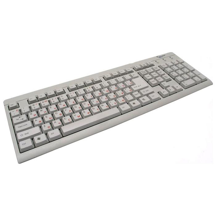 Клавiатура GEMBIRD KB-8300U-R USB White