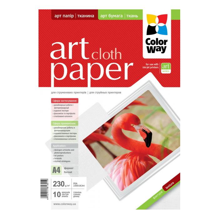 Фотопапір COLORWAY Art Cloth A4 230г/м² 10л (PGA230010CA4)