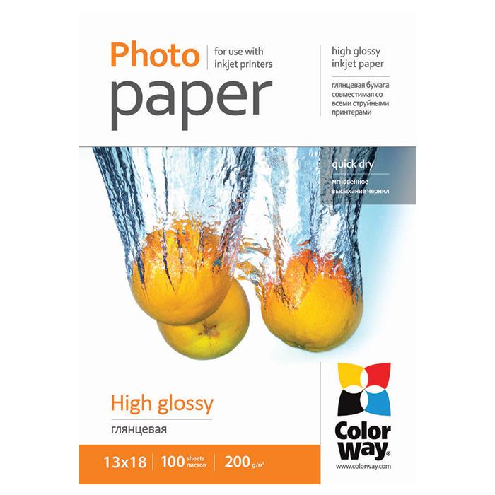 Фотопапір COLORWAY High Glossy 13x18см 200г/м² 100л (PG2001005R)