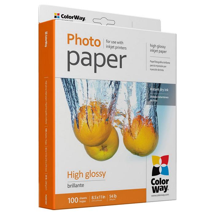 Фотопапір COLORWAY High Glossy Letter 200г/м² 100л (PG200100LT)