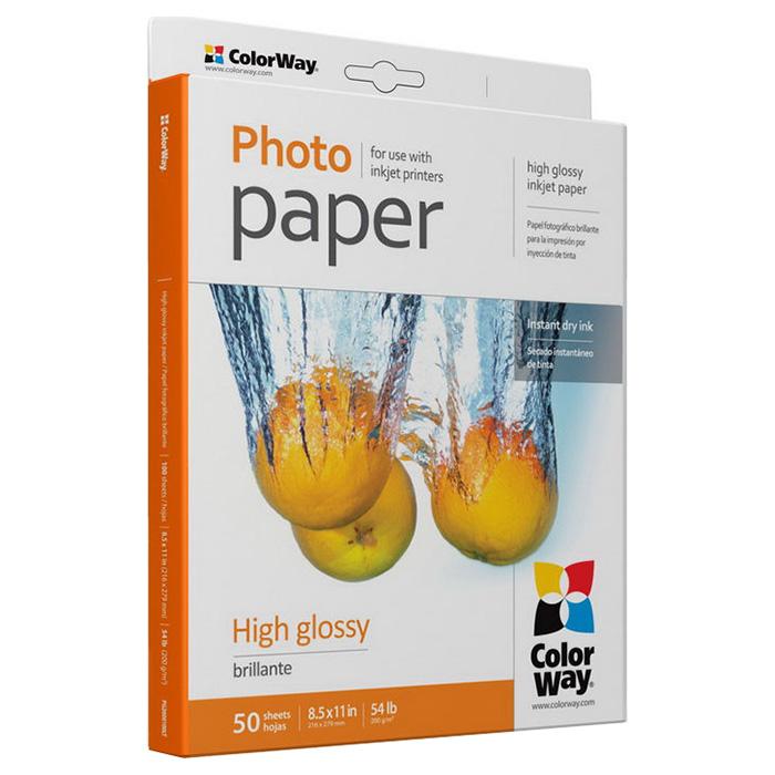 Фотопапір COLORWAY High Glossy Letter 200г/м² 50л (PG200050LT)