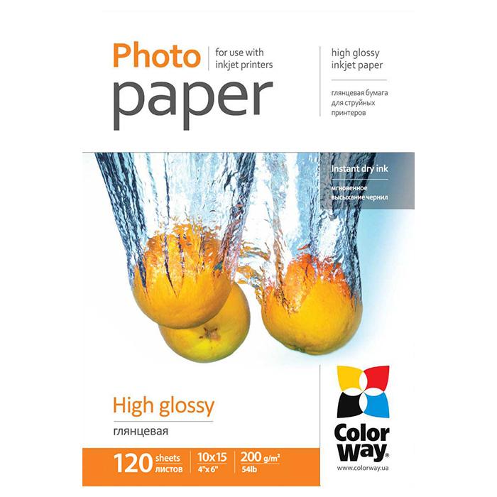 Фотопапір COLORWAY High Glossy 10x15см 200г/м² 120л (PG2001204R)