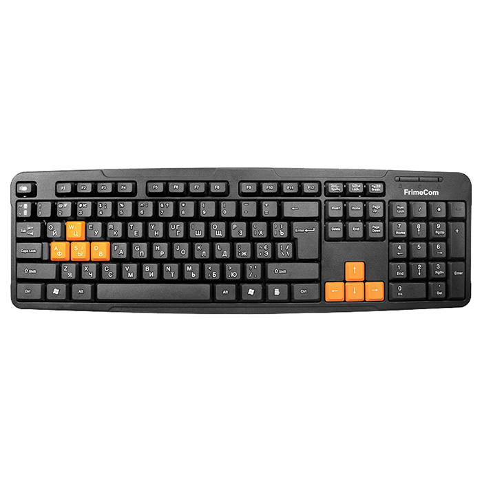 Клавіатура FRIMECOM FC-838 Black/Orange