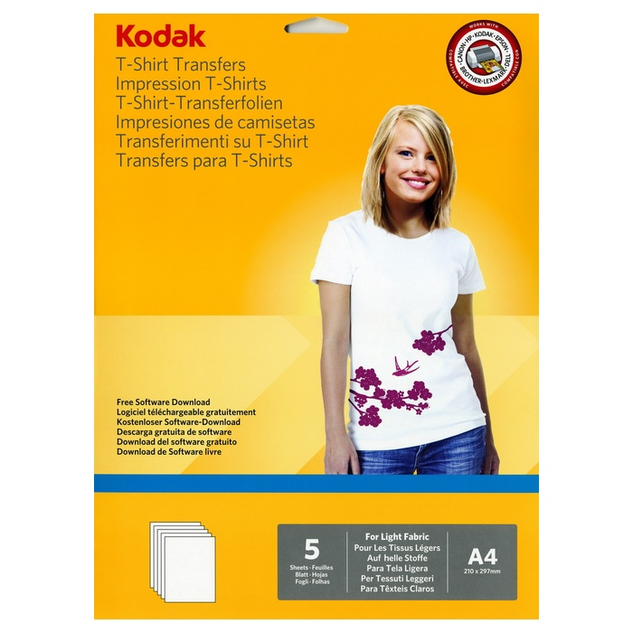 Трансферний папір KODAK T-Shirt Transfer A4 120г/м² 5л (CAT5740-021)