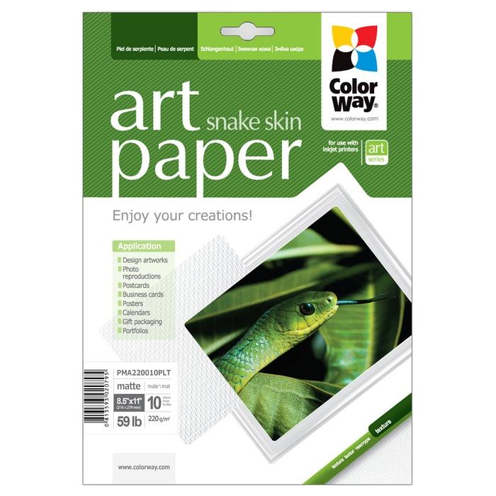 Фотопапір COLORWAY Art Snake skin Letter 220г/м² 10л (PMA220010PLT)
