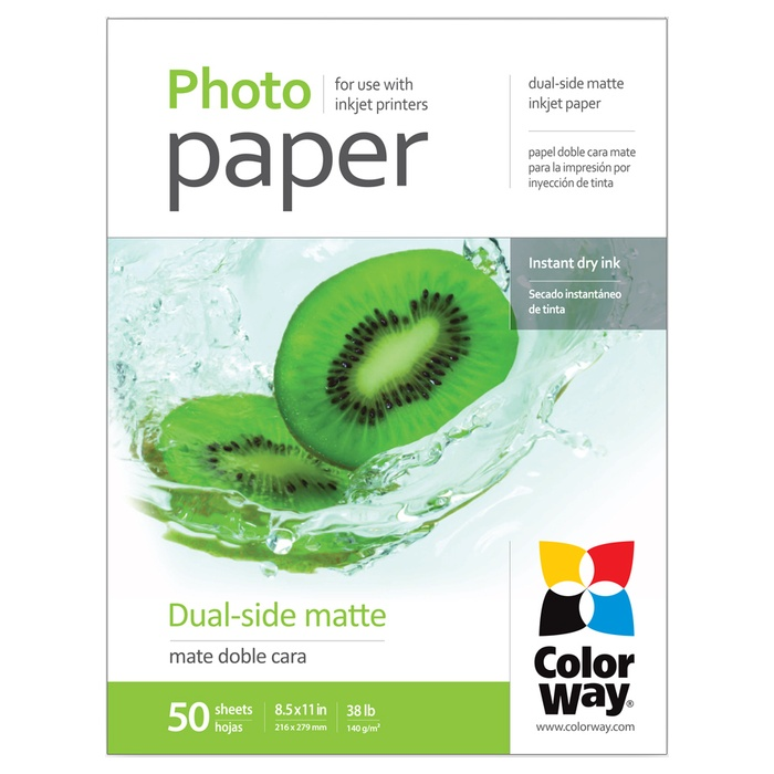 Фотопапір COLORWAY Dual-Side Matte Letter 140г/м² 50л (PMD140050LT)