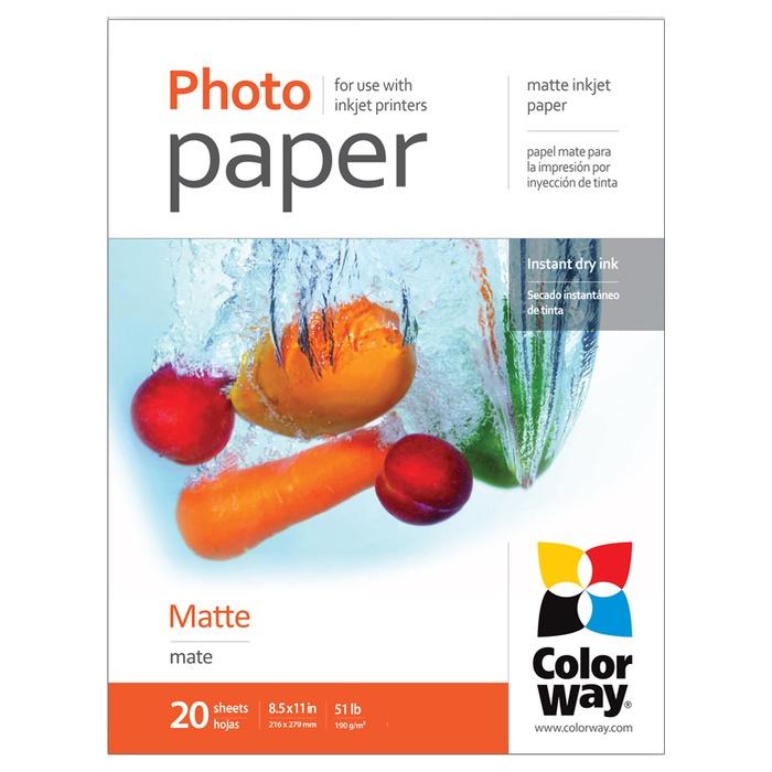 Фотопапір COLORWAY Matte Letter 190г/м² 20л (PM190020LT)