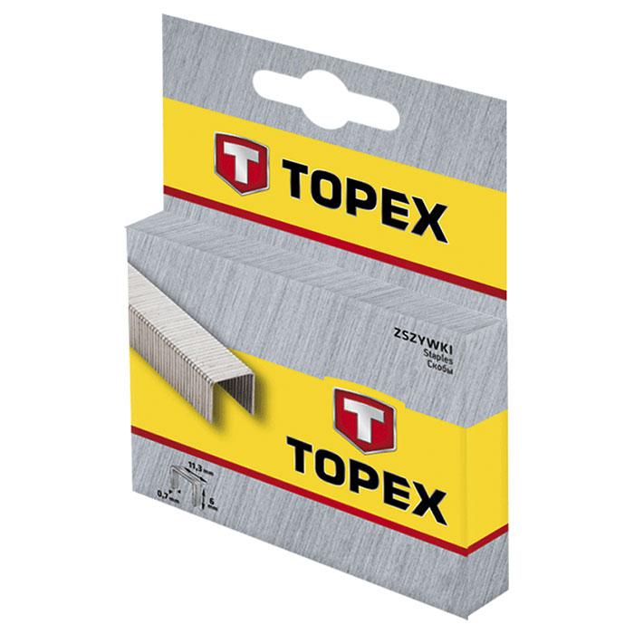 Скобы TOPEX 41E312 тип J 12мм 1000шт