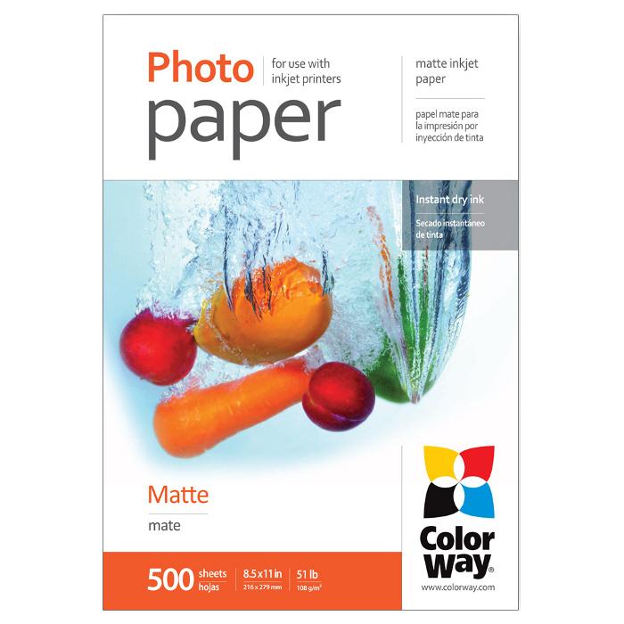 Фотопапір COLORWAY Matte Letter 108г/м² 500л (PM108500LT)