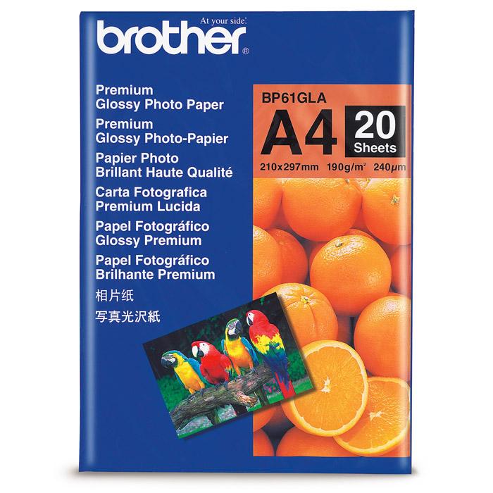 Папір глянцевий BROTHER A4, 190 г/м2, 20 л.
