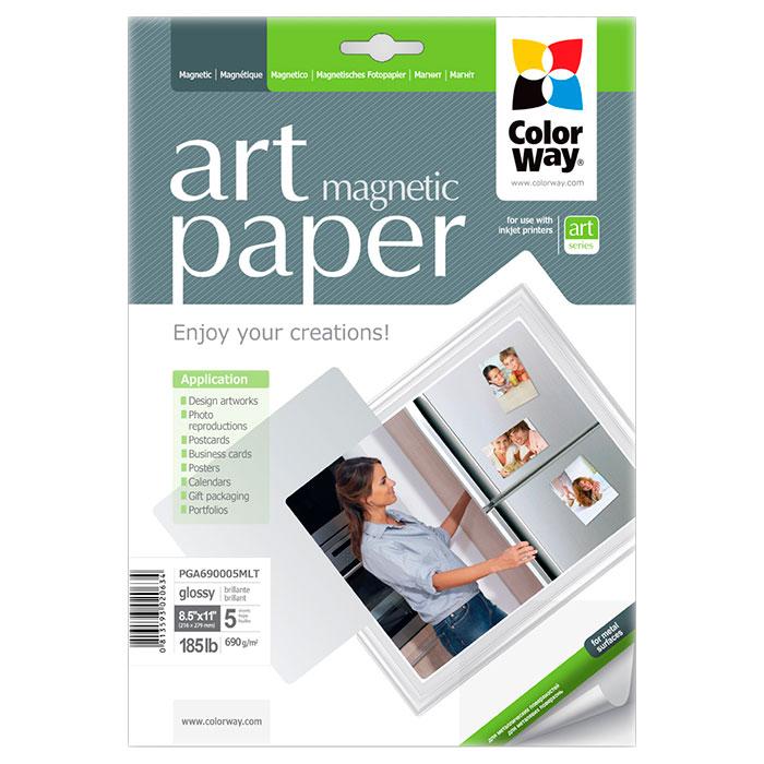 Папір магнітний COLORWAY Art Magnetic Letter 690г/м² 5л (PGA690005MLT)