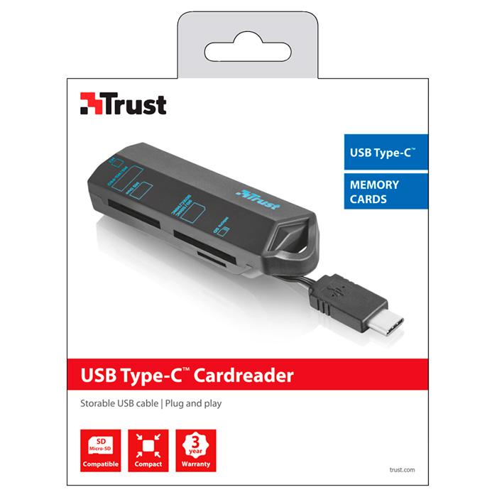 Кардридер TRUST Type-C Cardreader (20968)