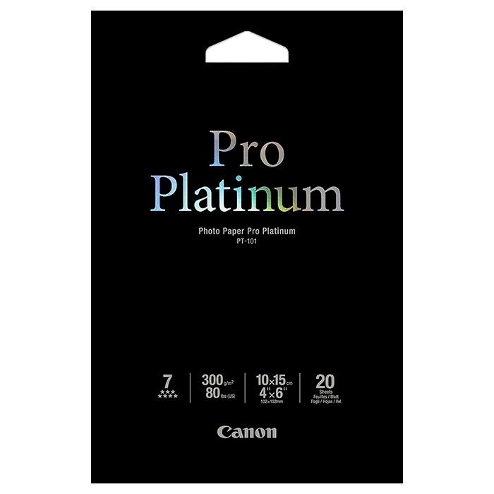 Фотопапір CANON Pro Platinum Photo Paper 10x15см 300г/м² 20л (2768B013)