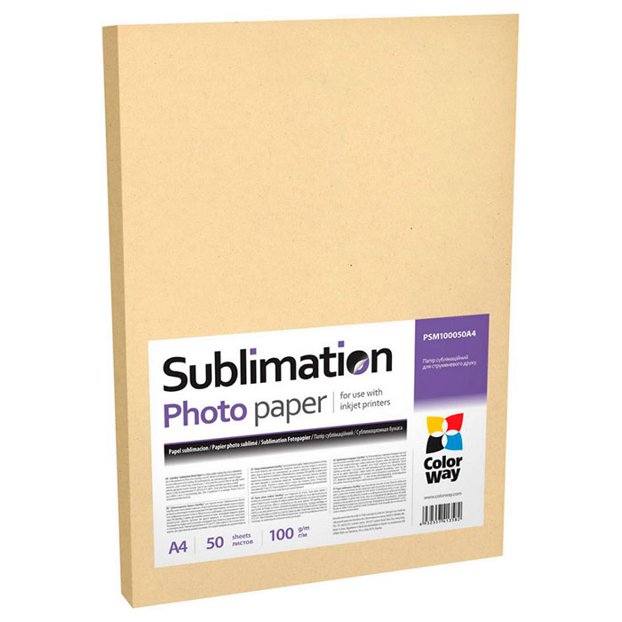 Фотопапір COLORWAY Dye Sublimation Paper A4 100г/м² 50л (PSM100050A4)