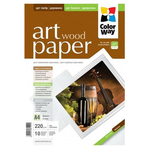 Фотопапір COLORWAY Art Wood A4 220г/м² 10л (PMA220010WA4)
