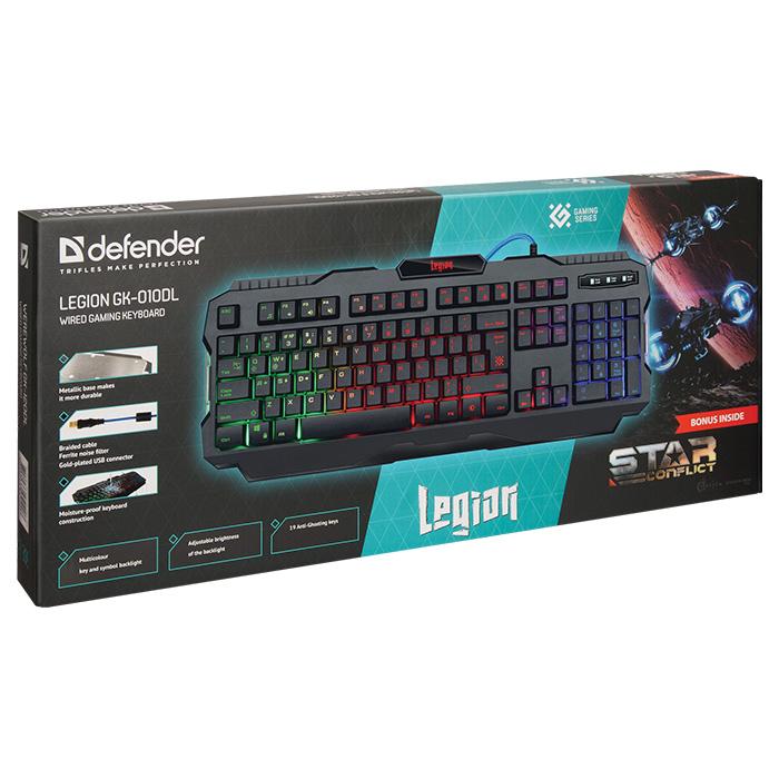 Клавіатура DEFENDER Legion GK-010DL (45010)