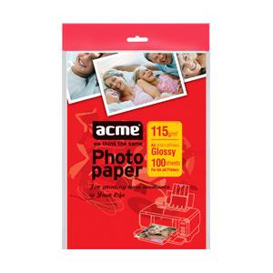 Папір глянцевий ACME A4, 115 г/м2, 100 л.