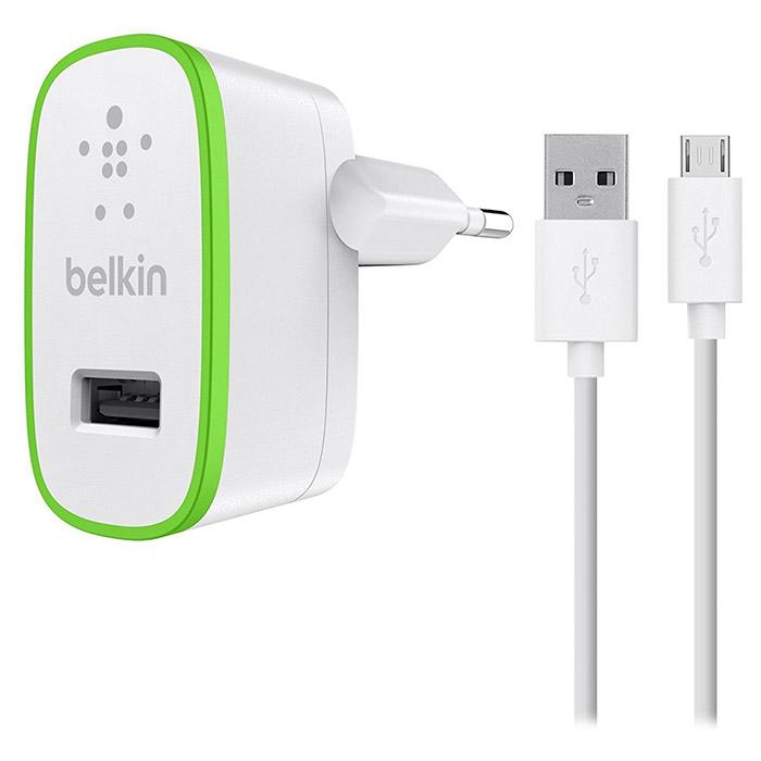 Зарядное устройство BELKIN Home Charger w/Micro-USB Cable (F8M886VF04-WHT)