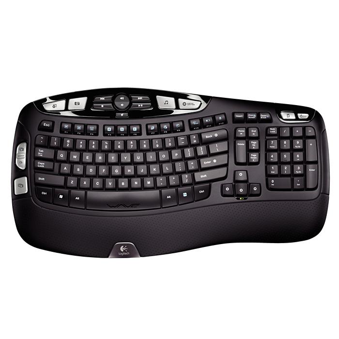 Клавіатура LOGITECH K350 Wireless USB (хвилеподібна ергономічна форма)