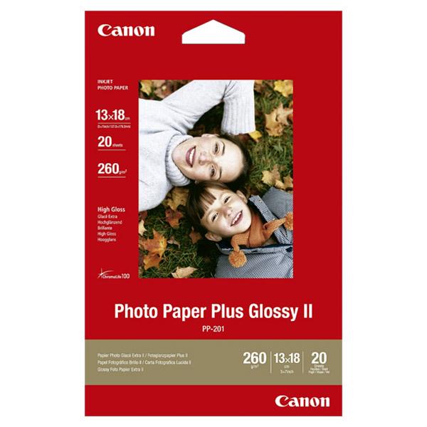 Фотопапір CANON Photo Paper Plus Glossy II 13x18см 260г/м² 20л (2311B018)