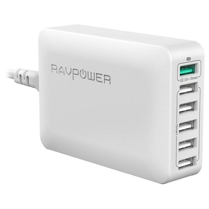 Зарядное устройство RAVPOWER RP-PC029 6-Port Charging Station White (RP-PC029-WH)
