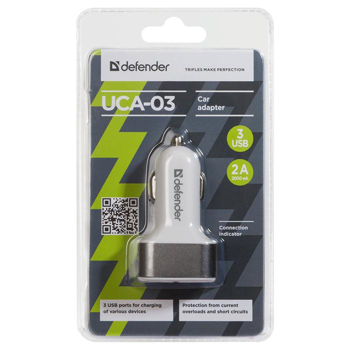 Автомобильное зарядное устройство DEFENDER UCA-03 (83570)