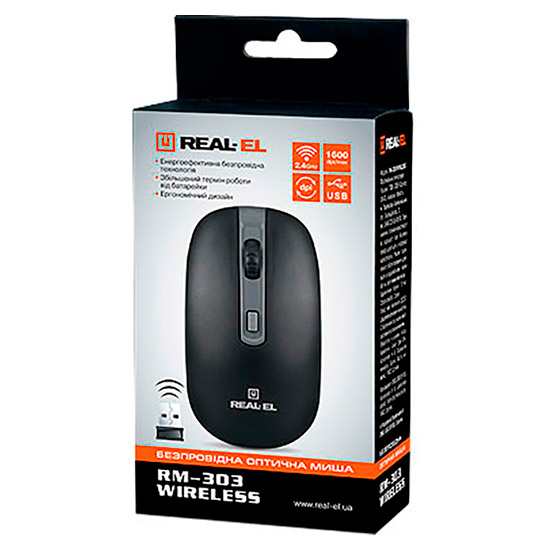 Мышь REAL-EL RM-301 Wireless