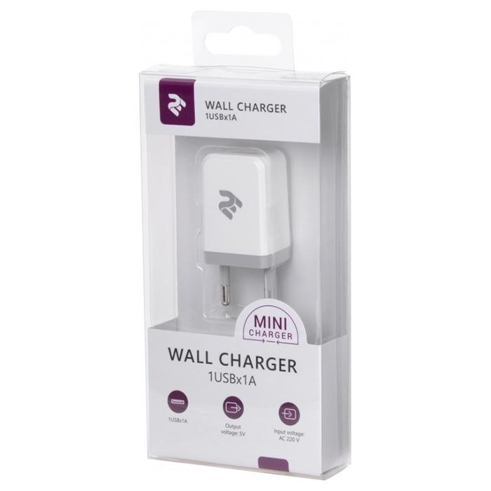Зарядное устройство 2E Wall Charger 1USB x 1A White (2E-WC1USB1A-W)