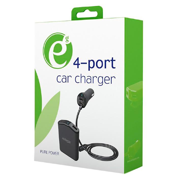Автомобильное зарядное устройство ENERGENIE EG-4U-CAR-01