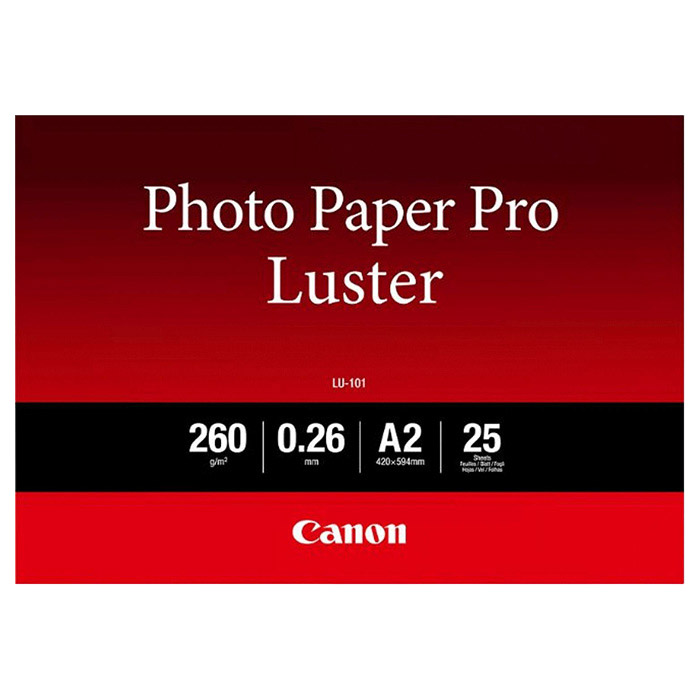 Фотопапір CANON Photo Paper Pro Luster LU-101 A2 260г/м² 25л (6211B026)