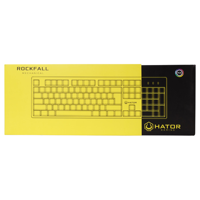 Клавіатура HATOR Rockfall RU Red Switch Black (HTK-607)
